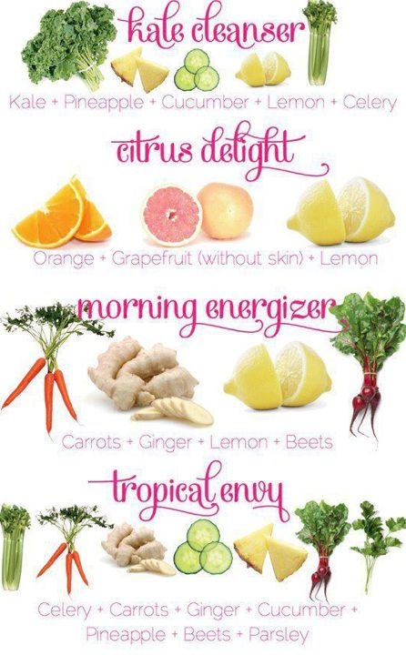 4 Fresh Juice Recipes. I finally have a Ninja and I can't wait to test it out. :)