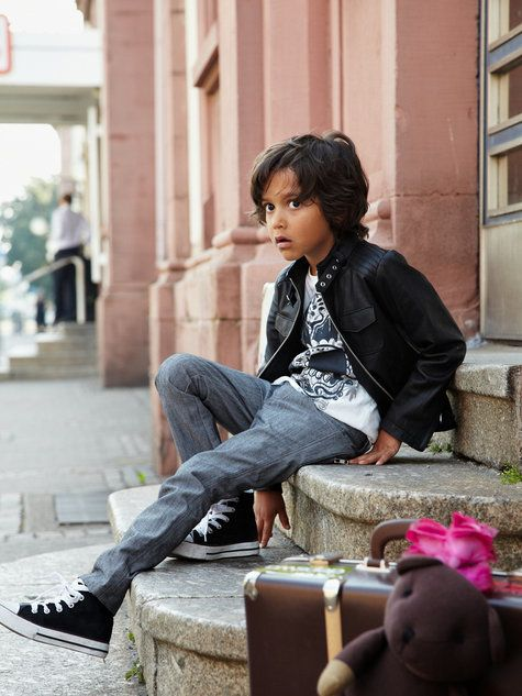 Boy's Leather Jacket 11/2010 ... would also work in a natural earthtone brushed cotton.
