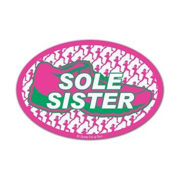 Sole sister mini car magnet fun size set of 2