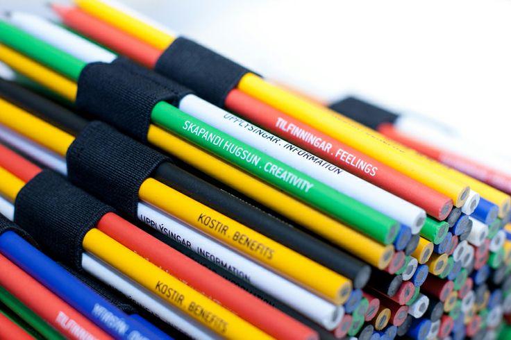 Six thinking pencils by Gagarin (via Creattica)