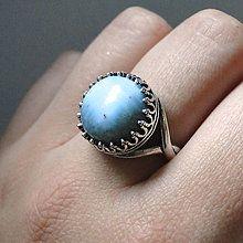 Prstene - Antique Larimar Ring / Elegantný vintage prsteň s larimarom - 8238475_