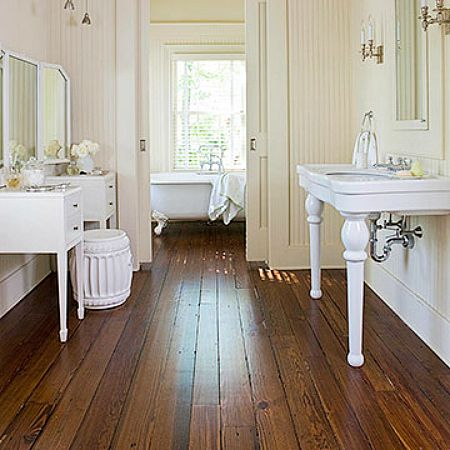 Wood floors bathrooms pinterest for Flooring bath