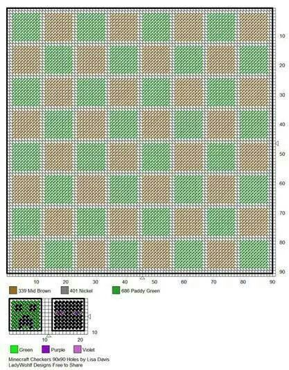 Mine Craft checkers