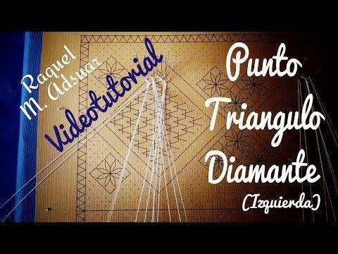 Punto Triángulo - Diamante (izquierda). Encaje de Bolillos - YouTube