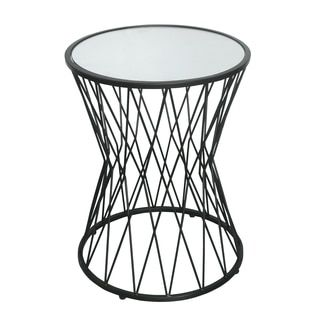 Shop for HomePop Hourglass Metal Accent Table Black Mirror Top. Get free shipping at Overstock.com - Your Online Furniture Outlet Store! Get 5% in rewards with Club O!