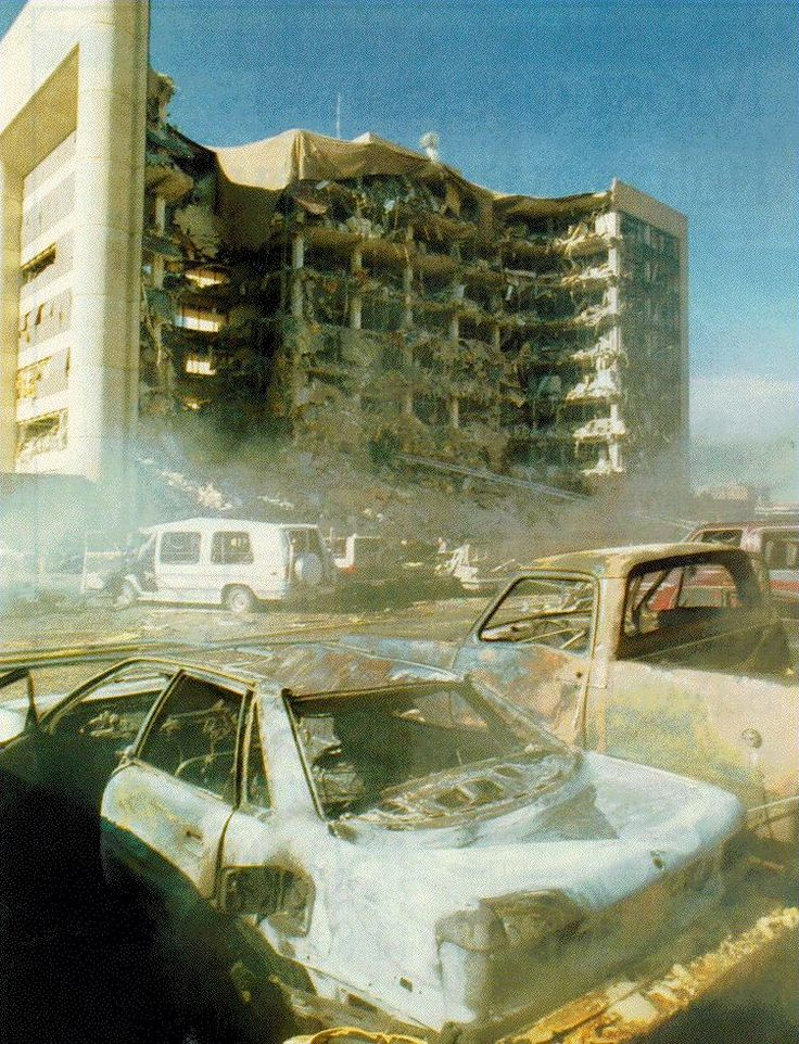 Oklahoma City Bombing of the Alfred P. Murrah Federal Building killing 168, including 19 children