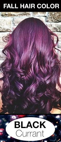 Dark purple hair color is the perfect fashion air color for those with naturally dark blown hair. #FallHairColor #PurpleHair