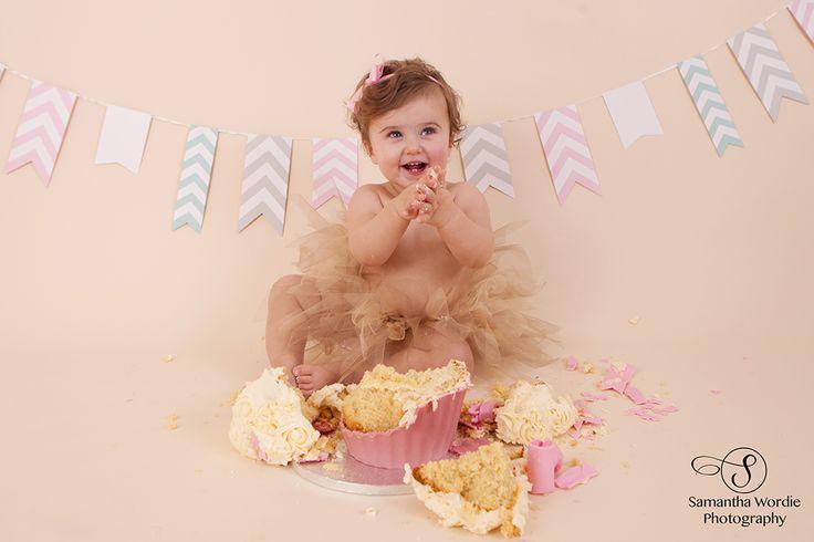 Amelia's cake smash, Cake Smash, First Birthday, Child photography, Tutu, Samantha Wordie Photography