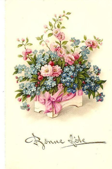 открытки под старину цветы нейронные сети для