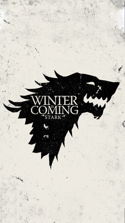 Game of Thrones Wallpaper - Winter Is Coming Stark White