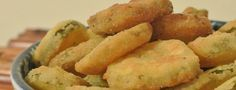 Deep fried Pickle Chips. Made with Better Batter Gluten Free Flour