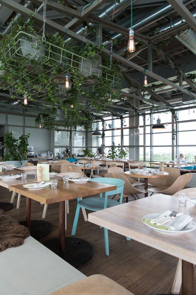 Neni Rooftop Restaurant At The 25 Hours Hotel Berlin Mix Wood Tones