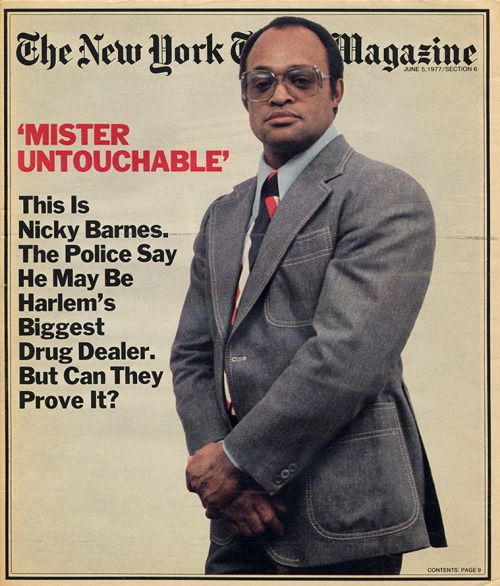 Harlem's Nicky Barnes on the cover of New York Times...