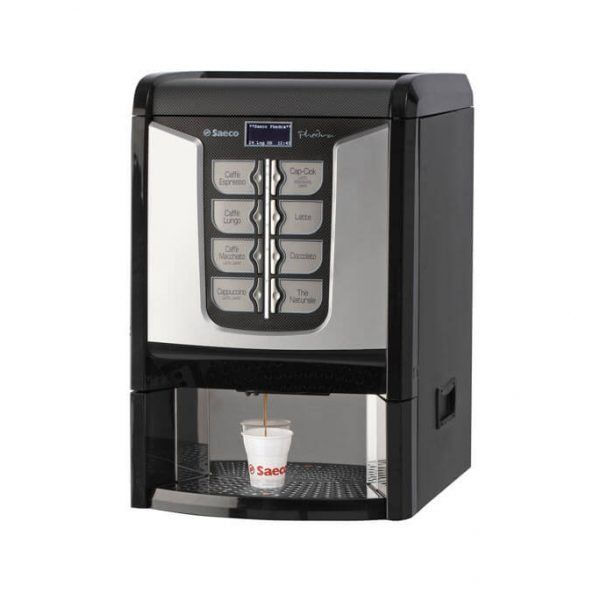 The Saeco Phedra is a semi-automatic table-top drink vending machine with cappuccinatore. The Saeco Phedra makes great coffee, it can also dispense up to 8 other different hot beverages.    #Coffee4Business #OfficeCoffee #CoffeeMachine #Coffee   #CorporateCoffee #CorporateCoffeeSolutions