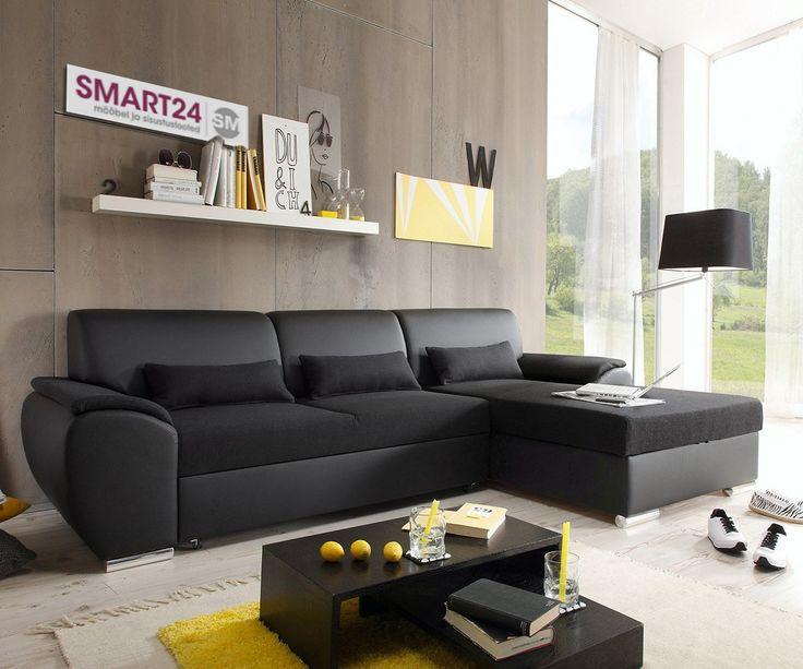 Угловой диван-кровать ANTARA SMART черный - Угловые диваны и угловые диваны-кровати - Мягкая мебель - Smart24.ee