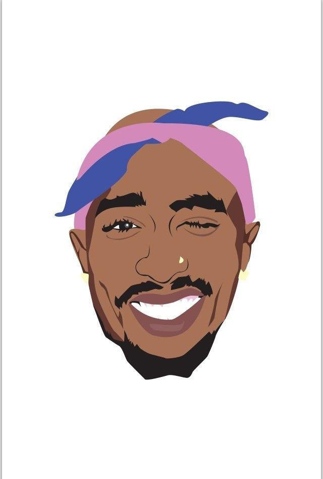 Illustration Tupac Shakur Tupac art, Rapper art, 2pac art
