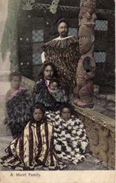 #167 Maori Family postcard.