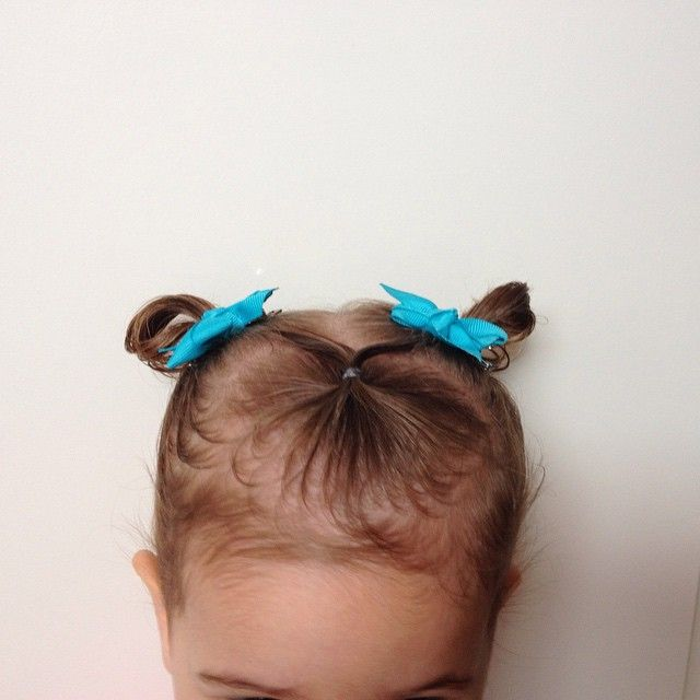 """Our cute hairstyle today ☺️ I even left the pigtails in little loops for extra cuteness 😍 #toddlerhairstyles #toddlerlife #supercute"""