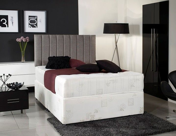 Windsor White 5ft King Size Divan Bed with Orthopaedic Mattress