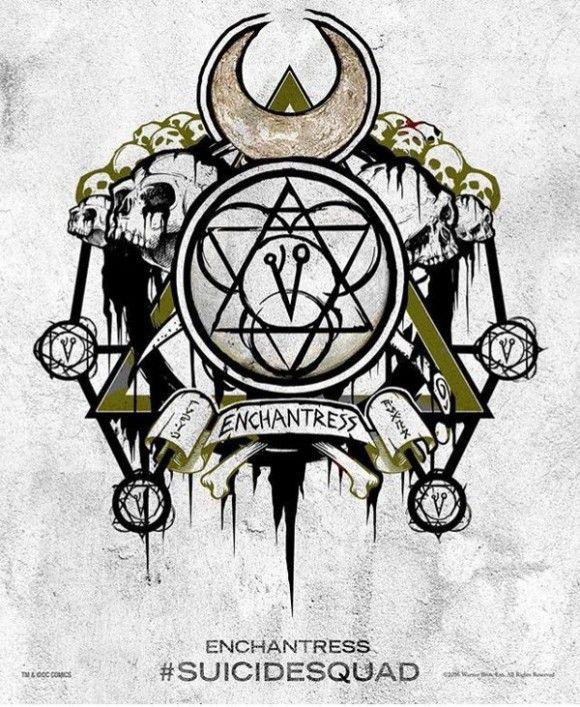 Suicide Squad - des posters-tattoo des personnages : Enchantress