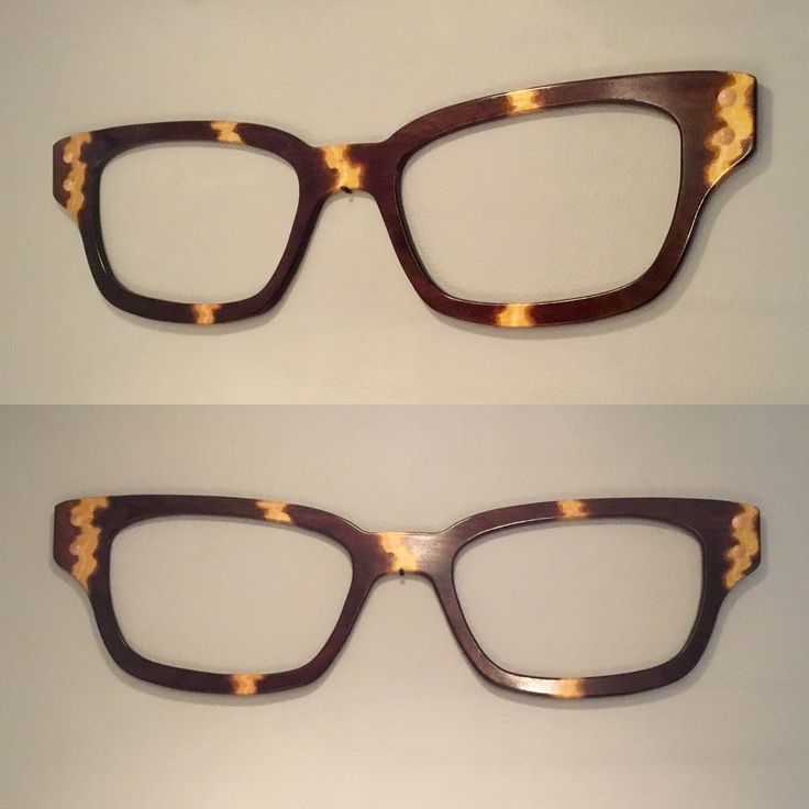 48 inch wall art made from hardwood maple custom stain tortoise. On its way to an optical shop. #glasses #optical #eyewear #design #display.