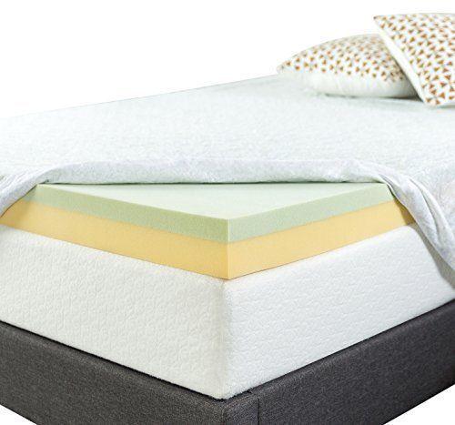 Deluxe Rv Memory Foam Mattress Bedding Topper Green Tea Luxury Bed Topper Memoryfoammattresstopper Memory Foam Mattress Mattress Memory Foam Mattress Topper