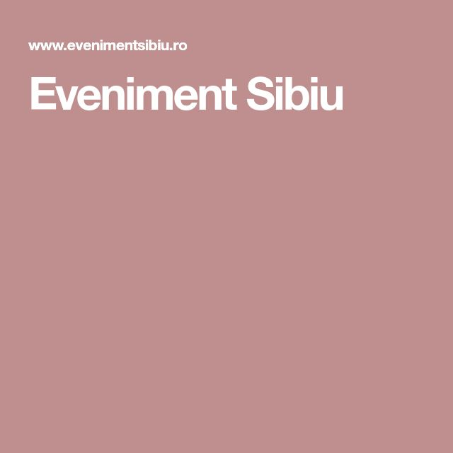 Eveniment Sibiu