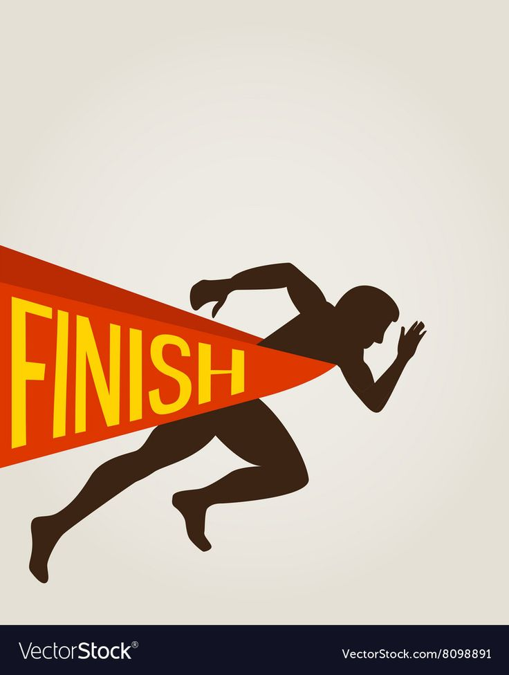 Number one winner at a finish line royalty free vector