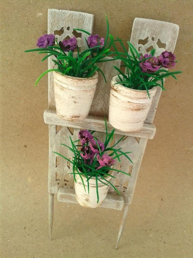 Мастерим декоративный забор с цветочными горшками для мини-садика - Ярмарка Мастеров - ручная работа, handmade