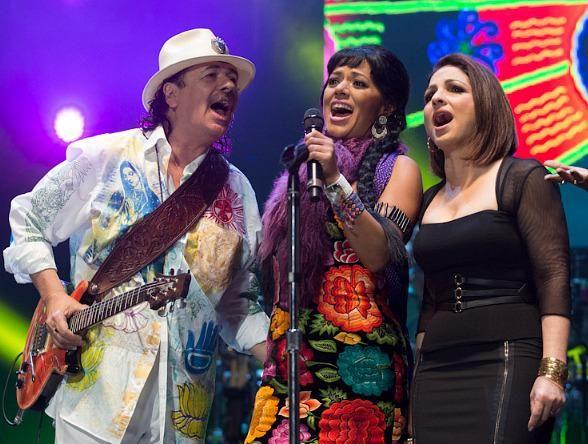 "Carlos Santana, Juanes, Gloria Estefan, Miguel and more Perform in ""Corazon, Live from Mexico: Live It To Believe It"" in Guadalajara, Mexico (Photo: © Erik Kabik/ RETNA/ www.erikkabik.com)."