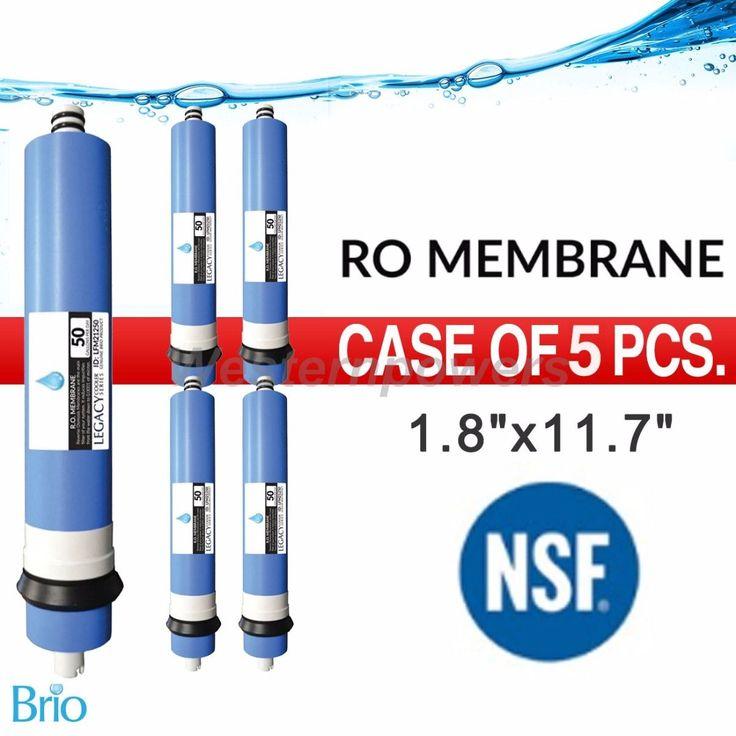 "5X Pcs Nsf Approved Biro 50 Gpd 2"" X 12"" Ro Membrane Filter"