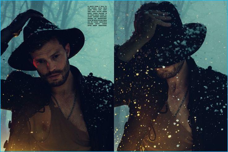 Norman Jean Roy photographs Jamie Dornan in Ralph Lauren Purple Label and Lanvin for L'Uomo Vogue.