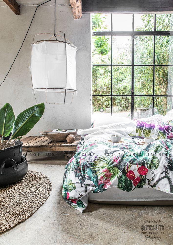 chambre de style #tropical #déco