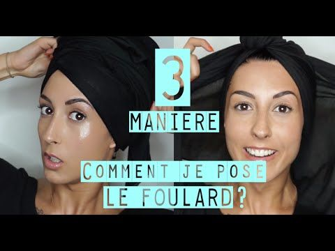 Comment nouer un foulard chimio triangle ? - YouTube