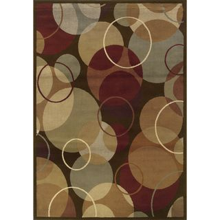@Overstock - This bold geometric design area rug offers a circle motif in shades of brown, gold, rust and grey. Featuring a durable yet soft polypropylene construction, this beautiful rug will make a wonderful addition to any room.http://www.overstock.com/Home-Garden/Indoor-Brown-and-Gold-Area-Rug/7576694/product.html?CID=214117 $18.69