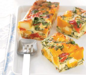 """Pumpkin Frittata & Spinach  - and if you need it we have a converter in our """"Helpful Kitchen Tips"""" board!"""