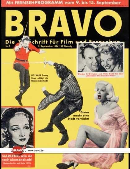 Bravo - 03/56, 09.09.1956 - Marlene Dietrich - O. W. Fischer & Hilde Krahl -