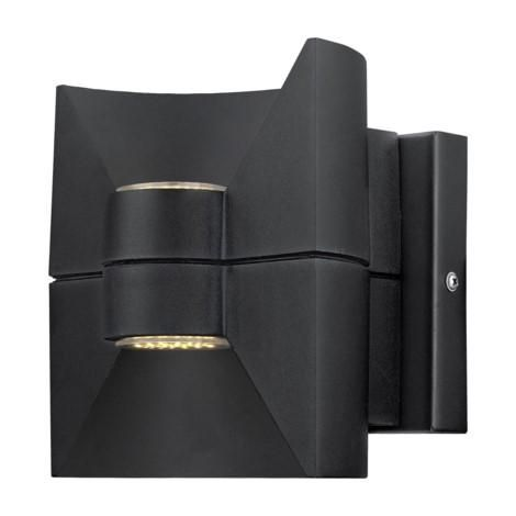 """LED Outdoor Wall Light w/ Matte Black Finish 2 x 2.5w Dimensions:L:6.50""""; H:6.89""""; D:6.10"""" Type of bulb:LED - Included Kelvin:3000K - Warm White Lumens:360"""