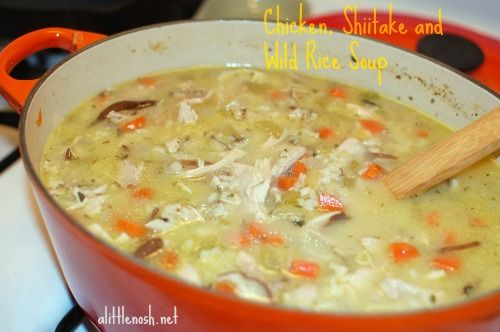 Chicken, Shiitake and Wild Rice Soup - a rich and hearty soup, perfect ...