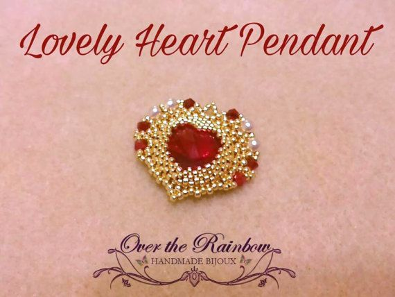 PDF  LOVELY HEART pendant di NicoleOverTheRainbow su Etsy