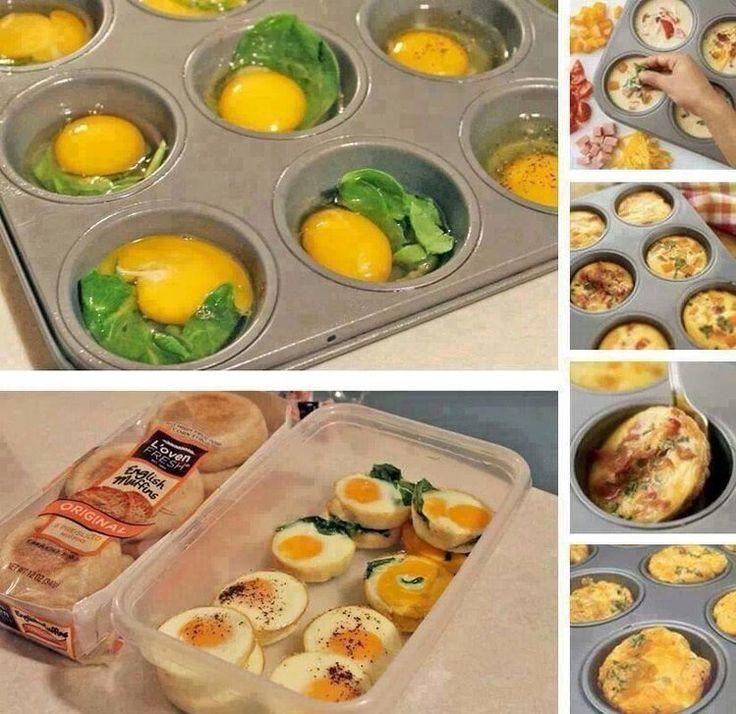 Muffinki jajeczne - idealne na śniadanie
