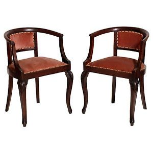 ANTIQUE PAIR OF CHAIRS LIBERTY IN WALNUT