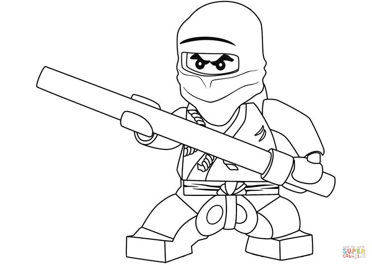 lego ninjago cole  the black ninja  super coloring mit