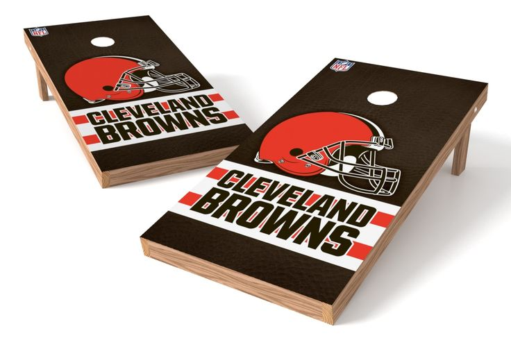 """""""Up your game"""" with these officially licensed Cleveland Browns cornhole boards! Whether you're tailgating every weekend or taking to the backyard before the big game, show your pride with the highest"""