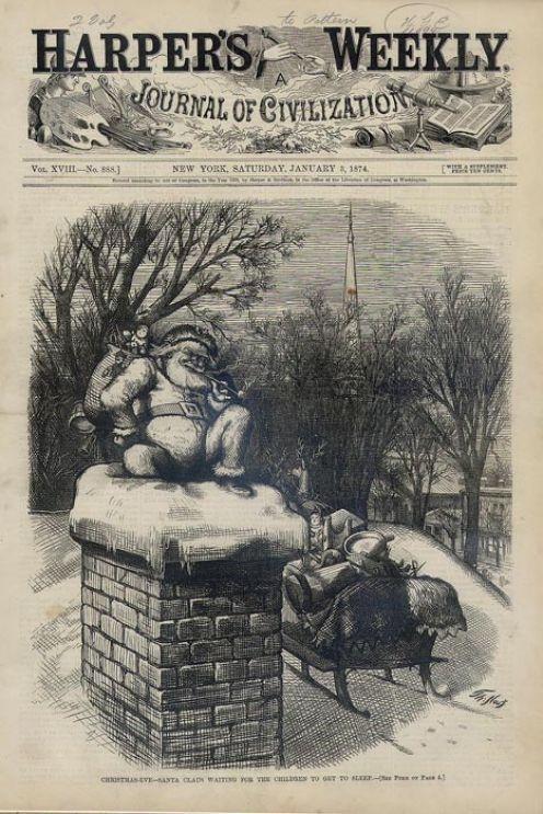 Yes, Thomas Nast drew Santa Claus