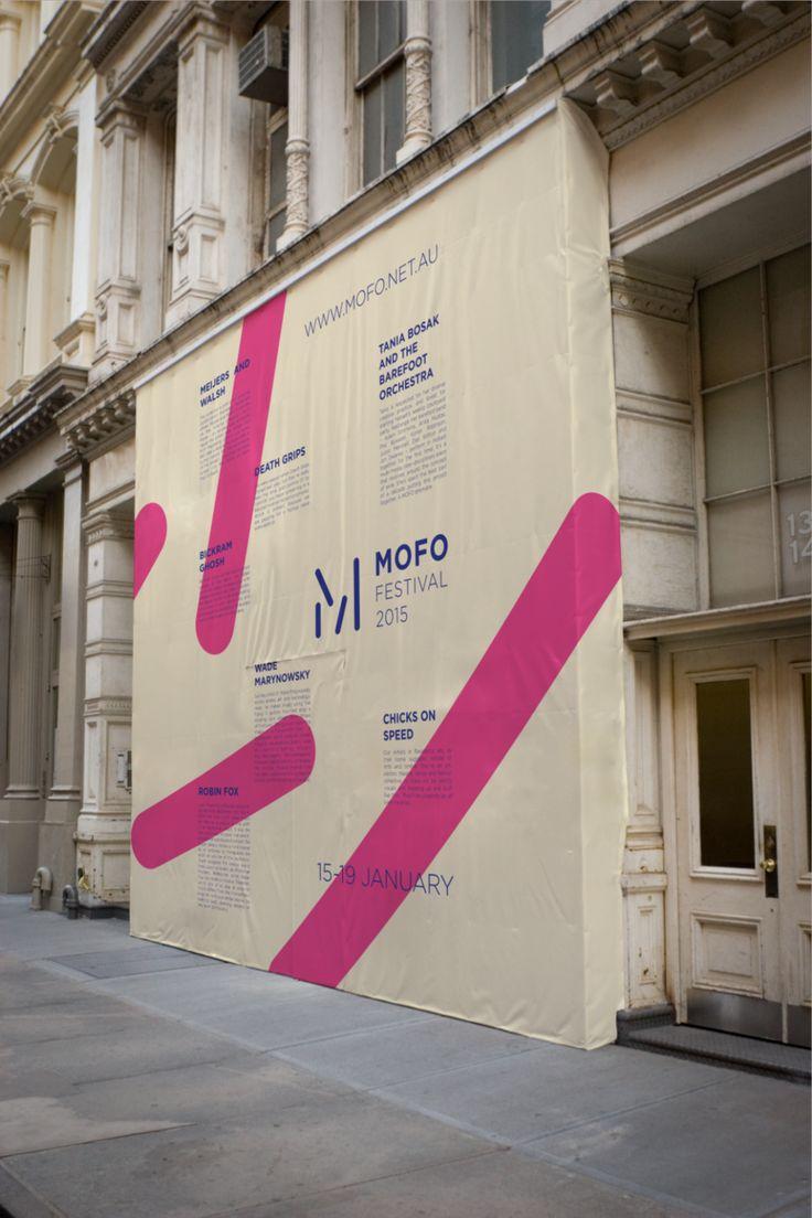 Hoarding graphic idea mofo festival graphics