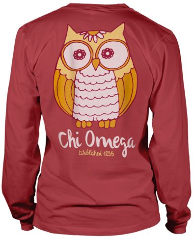Chi Omega Owl T-shirt.
