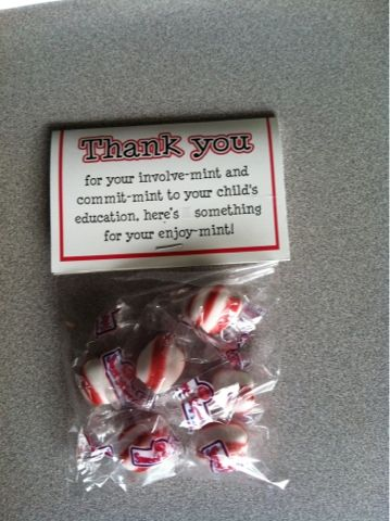 Great way to thank parents