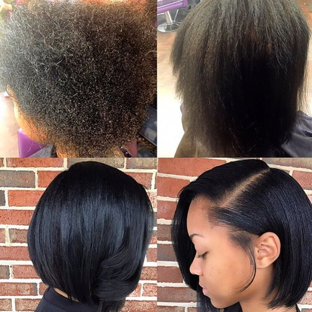 Bob Cut On Natural Black Hair   Hair Color Ideas and Styles for 2018