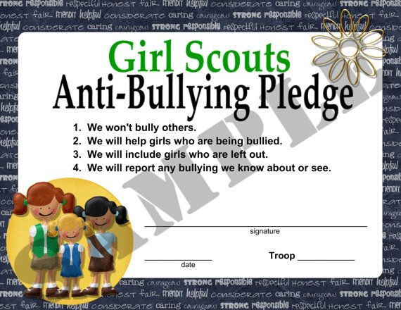Girl Scouts Anti Bullying Pledge